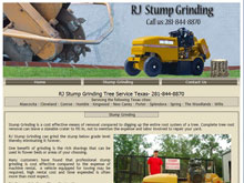 Web Design Project - RJ Stump Grinding